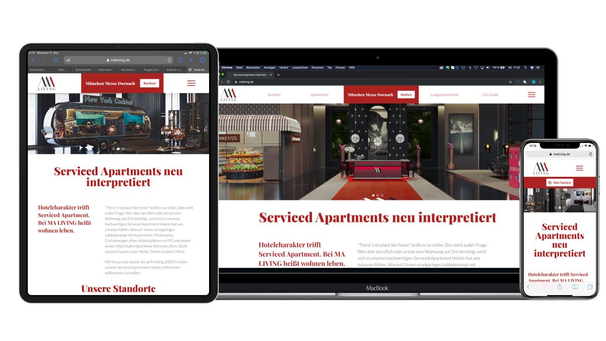 MA LIVING Serviced Apartment Website